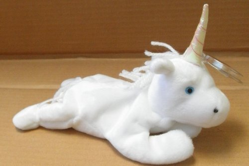 TY Beanie Babies Mystic the Unicorn Plush Toy Stuffed Animal - Yarn Mane - 1