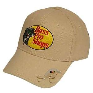 Bass pro shops hat cap fishing bait khaki stone tan for Bass fishing hats