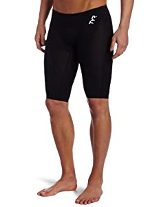 TYR Men's Tracer Light Jammer Swim Suit (Black, 36 -Inch)