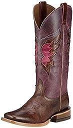 Ariat Women\'s Mariposa Cowgirl Boot Wide Square Toe Buckskin US