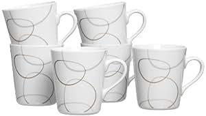 Ritzenhoff & Breker 593839 Kaffeebecher-Set Alina Marron, 6-teilig