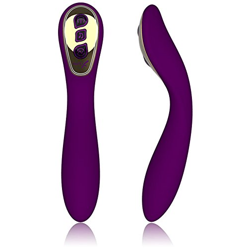 Diweit Vibrator Waterproof Magnetic USB Rechargeable 7-frequency Vibration G-spot Massager Female Masturbation Toy Yai007(purple)