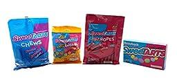 SweeTarts Chews, Throwback, Mini Gummy Bites, Soft & Chewy Ropes - 4 Items