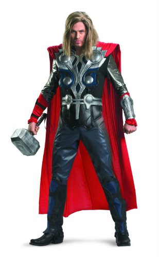 Disguise Thor Avengers Theatrical Adult Costume, Black/Blue/Red/Silver, X-Large (42-46)