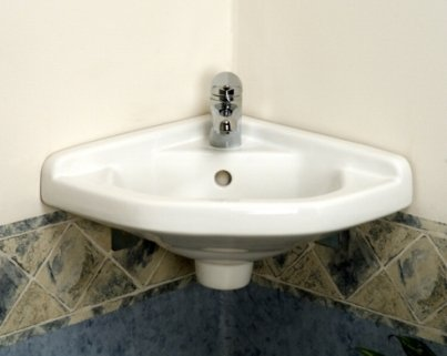 Cheapest Price! White Corner Wall Hung Bathroom Sink