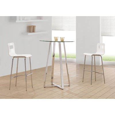 Set of 2 Zuo Escape White Bar Stools