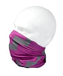 PINK REFLECTIVE HI VISIBILITY TUBE SCARF - RUFFNEK® Multifunctional Neckwarmer, beanie hat - Designed for safety - Men, Women & Children by RUFFNEK® OUTDOORS
