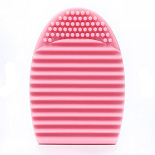 Bigban 1 PC Pretty Cleaning Glove MakeUp Washing Brush Scrubber Board Cosmetic Clean (Pink)