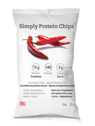 Simply Protein Chips, Chili Flavor 33-Gram (Pack of 12)
