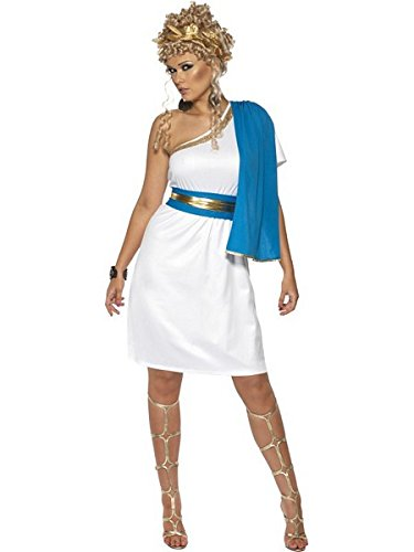 Smiffys Women's White/Blue Roman Beauty Costume -US Dress 6-8