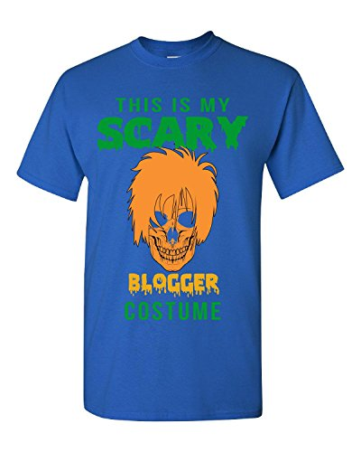 [This Is My Scary Blogger Halloween Costume - Adult Shirt S Royal] (Fashion Bloggers Halloween Costumes)