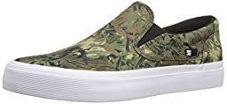 DC Trase Slip-On SP Unisex Skate Shoe, Camo, 10 M US