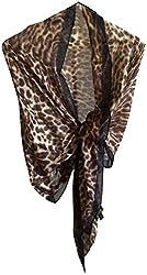 Lauren Ralph Lauren Animal Print Leopard Kara Wrap Scarf