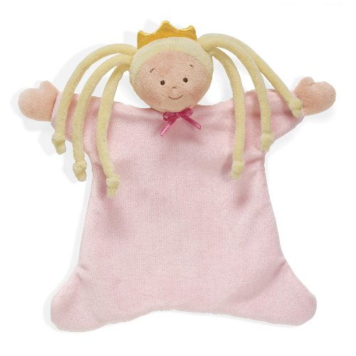 "North American Bear 8.5"" Little Princess Cozie Blankie, Blonde - 1"