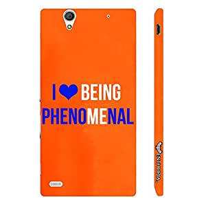 Sony Xperia C4 I love being phenomenal designer mobile hard shell case by Enthopia