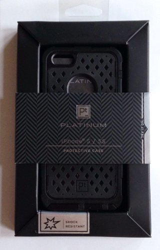 Platinum by Sedio Case for Apple iPhone 5 and 5s - Black PT-A5UP2B (Platinum Iphone 5 Case compare prices)