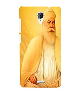 Fuson 3D Printed Lord Guru Nanak Designer Back Case Cover for Micromax Unite 2 A106 - D526