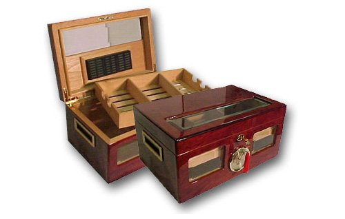 Prestige Import Group Valencia Glass Top Humidor