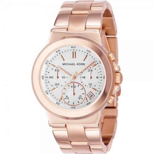 Michael Kors Ladies Watch MK5223, with Rose Gold Bracelet Strap and White Dial