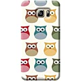 Tecozo Designer Printed Back Cover For Samsung Galaxy S6, Samsung Galaxy S6 Back Cover, Hard Case For Samsung Galaxy S6, Case Cover For Samsung Galaxy S6, (Owl Pattern Design,Pattern/Comics & Cartoons)