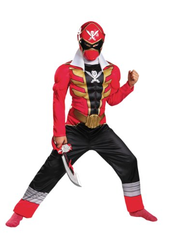Power Rangers Super Megaforce Red Ranger Classic Muscle Chest Child Costume Medium