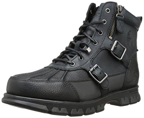 Polo Ralph Lauren Men'S Demond Boot,Black/Black,12 D Us