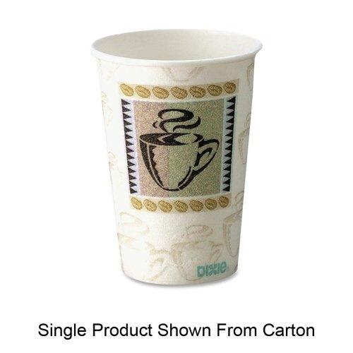 Dixie Hot Cups, Paper, 10oz, Coffee Dreams Design, 500/Carto