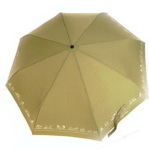 """Automatic umbrella """"Jacques Esterel"""" green khaki."""