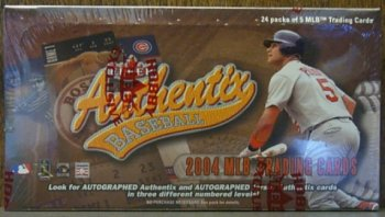 2004 Fleer Authentix Baseball Cards Hobby Box