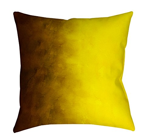 Thumbprintz Square Indoor/Outdoor Pillow, 18-Inch, Ombre, Gold front-470195