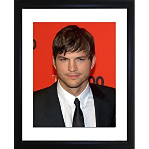 Ashton Kutcher Framed Photo
