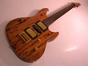Kona Electric Guitar,6 string, 2 Humbuckers Pickups, Natural Wood Grain Finish