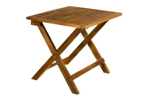 Low snack table tropical acacia wood small bistro coffee for Small wooden garden table