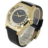 [マークバイ マークジェイコブス]MARC BY MARC JACOBS マークジェイコブス 時計 MBM1246 ヘンリー スケルトン ゴールド ブラック レザー レディース ユニセックス 男女兼用腕時計 [並行輸入品]