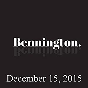 Bennington, December 15, 2015 Radio/TV Program
