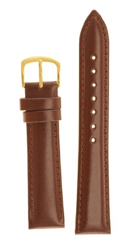 Men's Genuine Italian Leather Watchband - Color Tan Size: 16mm Watch Strap