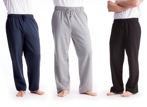 Mens/Gentlemens Nightwear, Jogging Bottoms With Elasticated Waist, Black Large