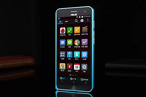 Smartist au docomo Softbank Rakuten ASUS Zenfone 5 Frame Bamper CASE  ドコモ ソニー 楽天 モバイル SIM フリー ゼンフォン 5 対応 バンパー アルミ ハード 金属 枠 フレーム ガード メタルバンパー アルミバンパー スマートフォン ケース  Blue ライトブルー 青 CASEASZEN5-AlFrameFitSQ-BU