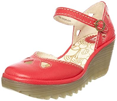 Fly London Yuna Rubi, Escarpins femme - Rouge-TR-A4-19, 37