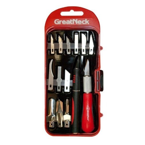 Greatneck 68035 Hobby Knife Set, 14-Piece
