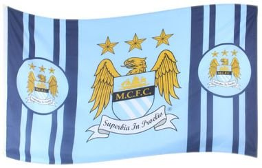 Manchester City FC Authentic EPL Crest Flag NS
