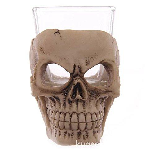 CNMKLM Halloween terreur gothique crâne Vodka Verre à vin