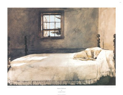 Master Bedroom Architecture Art Poster Print by Andrew Wyeth, 29x22