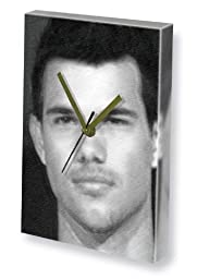 TAYLOR LAUTNER - Canvas Clock (A4 - Signed by the Artist) #js001
