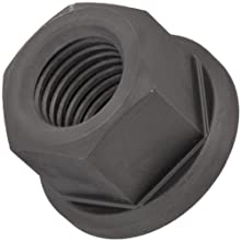 Class 8 Low Carbon Steel Flange Nut, Zinc Plated Finish, Metric Coarse 6H Threads, M16 Thread Size, 9/16&#034; Width Across Flats