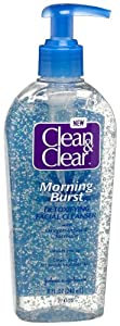Clean & Clear Morning Burst Detoxifying Facial Cleanser with Oxygen-Infused Formula, 8-Ounce Pump Bottles (Pack of 4)