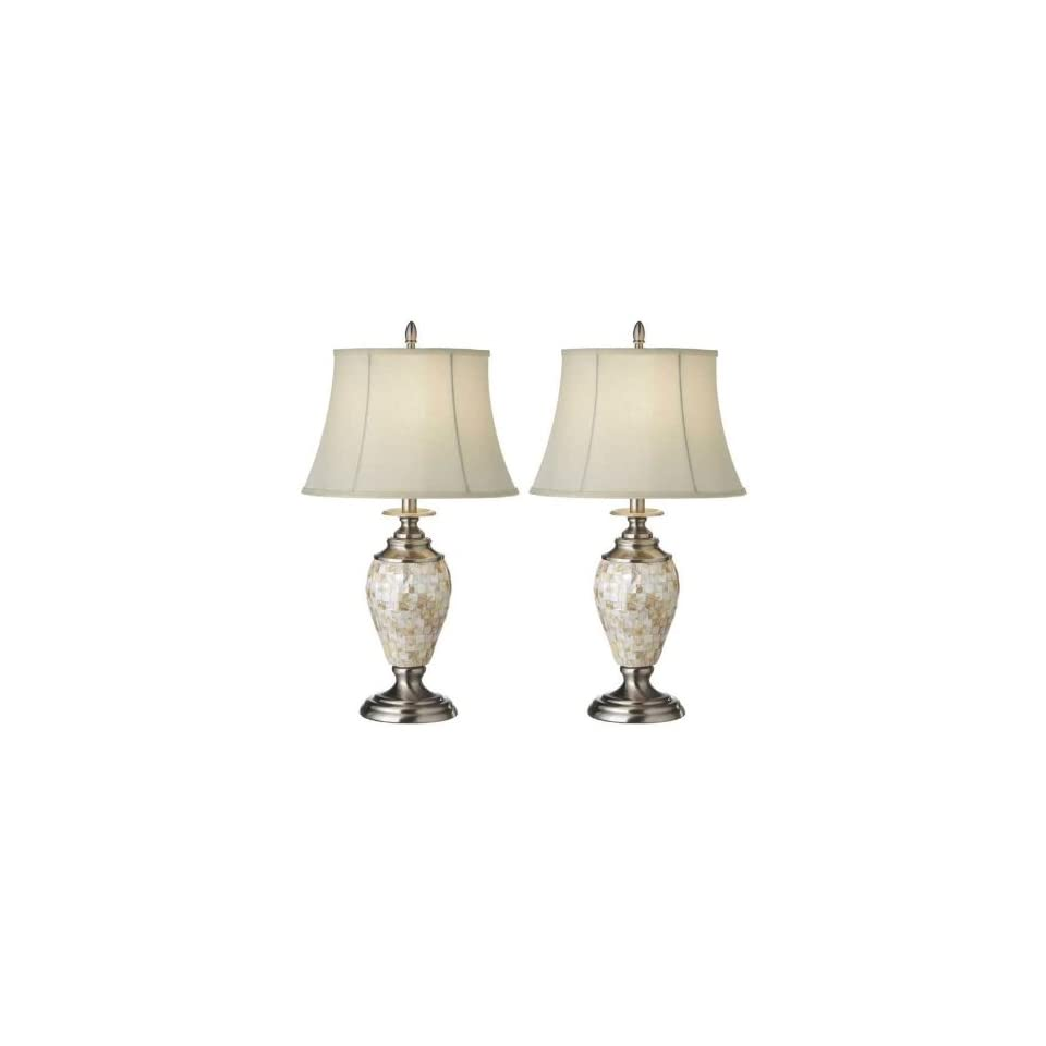 Mother Of Pearl Table Lamp 150 Watt Set Of 2 On Popscreen