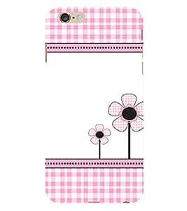 Flower Pattern 3D Hard Polycarbonate Designer Back Case Cover for Apple iPhone 6S Plus