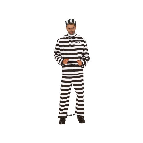 Rubies Costumes - Adult Men - Convict Costume (Men's Adult Regular Size) - One Size