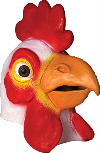 Chicken Rooster Animal Deluxe Latex Adult Halloween Costume Mask (Adult Rooster Costume)